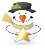снеговик - рождество векторная иллюстрация — Cтоковый вектор