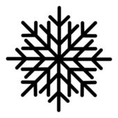 Snowflakes - Christmas Vector Illustration — Stock Vector