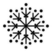 Kształt płatka śniegu — Wektor stockowy