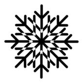 Floral Snowflake — Stock Vector