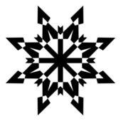 черная форма снежинки — Cтоковый вектор