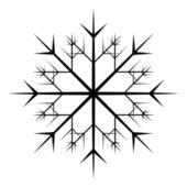 Snowflake Floral Vector — Stock Vector