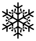 винтаж снежинка — Cтоковый вектор