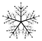 Snowflake Design Vector — Stock Vector