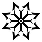 Snowflake Star — Stock Vector