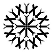 Elemento de floco de neve — Vetor de Stock