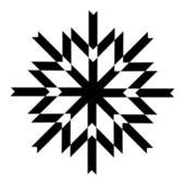 Kar tanesi tasarım — Stok Vektör