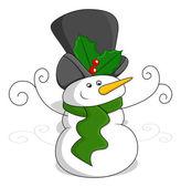 Sneeuwpop - kerst vectorillustratie — Stockvector