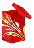 Königliche geschenk-box - weihnachten-vektor-illustration — Stockvektor