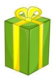 Green Gift Box — Stock Vector