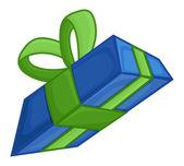 Cartoon Gift Box — Stock Vector