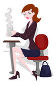 Businesswoman Vector — Stock Vector