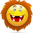 Smiley Vector Illustration - Lion Head — Stock Vector
