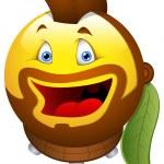 Smiley vectorillustratie - rockstar gezicht — Stockvector