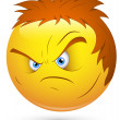 Smiley Vector Illustration - Angry Lout Face — Stock Vector #21686687