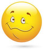 Smiley Vector Illustration - Happy Cute Face — Stock Vector