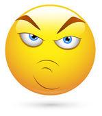 Smiley Vector Illustration - Attitude Face — Stock Vector