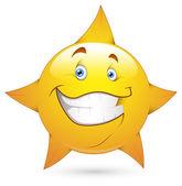 Smiley Vector Illustration - Star Face — Stock Vector