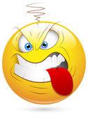 Smiley Vector Illustration - Aggressive Face — Stock Vector
