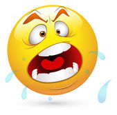 Smiley Vector Illustration - Shouting Face — Stock Vector