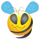 Smiley Vector Illustration - Bee Face — Stock Vector