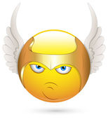 Smiley Vector Illustration - Cherub Angel — Stock Vector