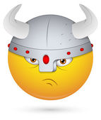 Smiley Vector Illustration - Viking Face — Stock Vector