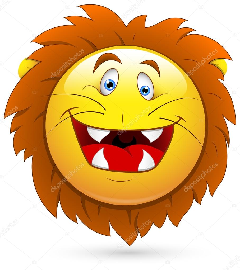 Smiling Lion Face