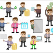 Various Concepts & Poses - Office and Business Cartoon Character Vector Illustration — Stock Vector #24395805