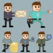 ストックベクタ: Various Concepts - Office and Business Cartoon Character Vector Illustration Concept