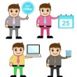Cartoon Office People - Stock Vector