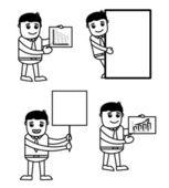 Office Vector Cartoon Character Illustration - Various Pose — Stock Vector
