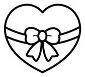 Retro Gift Wrap Heart with a Bow — Stock Vector