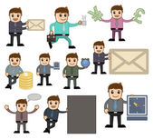 Office and Business Vector Cartoon Character Illustration - Various Poses — Stock Vector