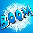 Boom - Comic Expression Vector Text — Stock Vector
