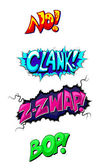 Comic Expression Vector Text — Stock Vector