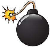 Funny Bomb Vector Illustration — Stock Vector