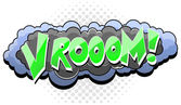 Vrooom - texto de vector de expresión cómica nube — Vector de stock
