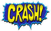 Crash - Comic Expression Vector Text — Stock Vector