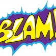 Blam - Comic Expression Vector Text — Stock Vector #24670401