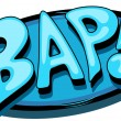 Bap - Comic Expression Vector Text — Stock vektor