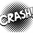 Crash - Comic Expression Vector Text — Stock Vector