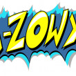 Ka Zow - Comic Expression Vector Text — Stock Vector