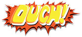 Ouch - Comic Expression Vector Text — Stock Vector
