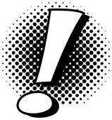 Retro Comic Exclamation Mark Vector — Stock Vector