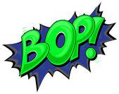Bop - komické výraz vektorové text — Stock vektor