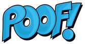 Poof - Comic Expression Vector Text — Stock Vector