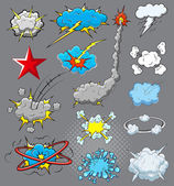 Comic Explosion Cloud Burst Vector Illustration — Stock Vector