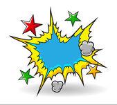 Komiska explosiva vektor — Stockvektor