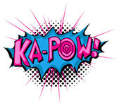 Ka Pow - Comic Expression Vector Text — Stock Vector